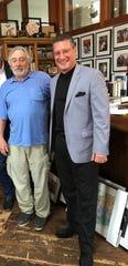"Academy Award winner Robert De Niro, left, and Larry Mazza of Merritt Island, a former member of the mafia. Mazza said he consulted for De Niro, who stars in ""The Irishman."""