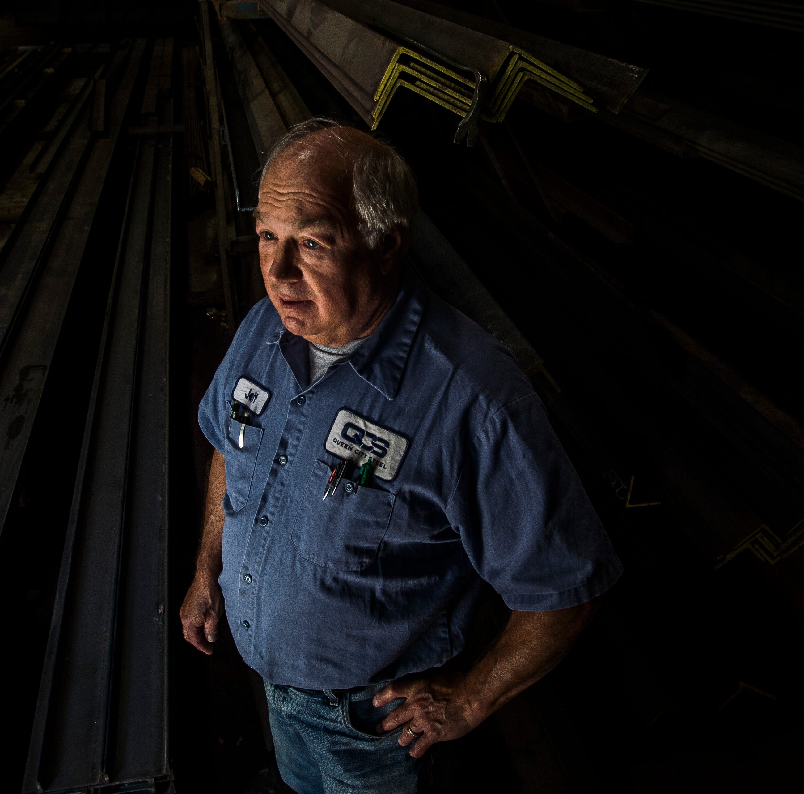 Jeff Goldfield, owner of Queen City Steel in Burlington, Vt., says that steel prices started jumping up months before President Trump even started to talk about a tariff on Canadian metal imports, adding that the hikes were 'significant' and have continued to rise. He says that orders for steel now takes weeks for fulfill -- and sometimes longer -- when it used to take days.