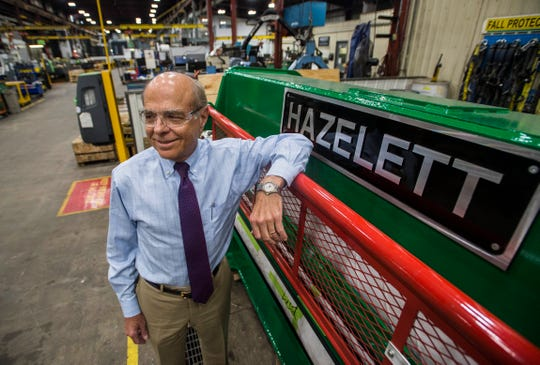 About one-third of the copper wire produced in the world goes through Hazelett Corp. bar casters, said David Hazelett, whose grandfather founded the company in Cleveland a century ago. Keith Decker, Hazelett's director of marketing, said the company has a hard time finding enough people to hire in Vermont.