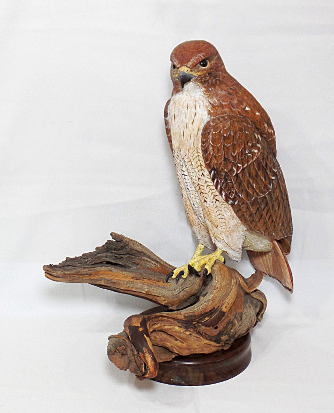 This female red-tailed hawk is one of Posluszny's favorite pieces. It sold for $2,000.