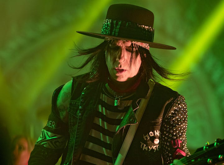 Alice Cooper brought his Paranormal Evening Tour to the Taft Theatre on Tuesday, September 4, 2018. Tommy Henriksen performs in Alice Cooper's band.