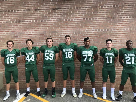 Fb East Brunswick Football Players