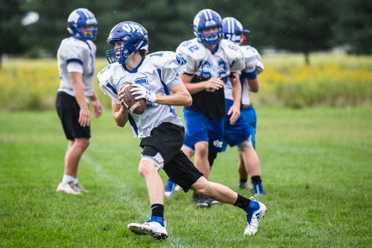 Anthony Potthoff has quarterbacked Van Meter to a perfect 10-0 record. The Bulldogs play West Branch on Friday in the Class 1A state quarterfinals.
