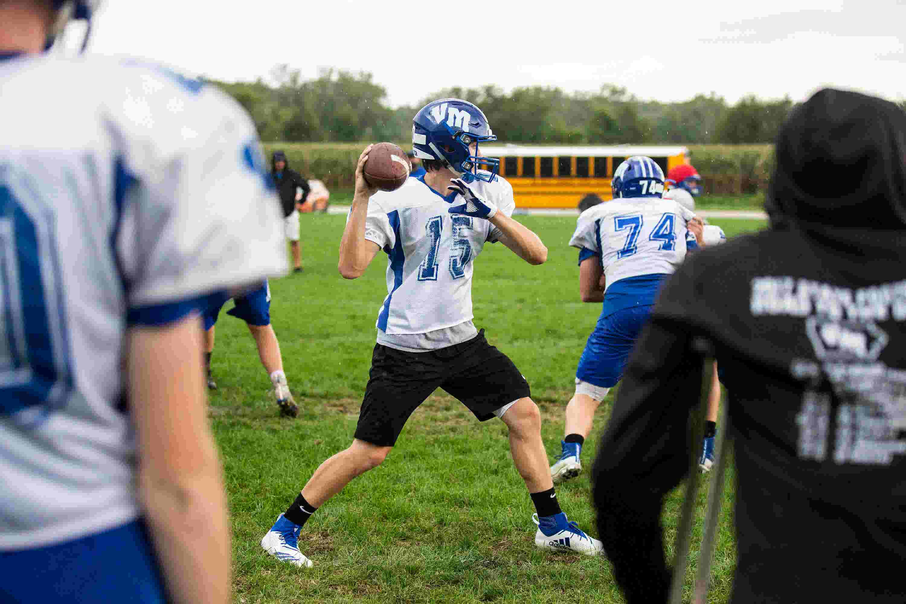 After brother's death, Van Meter quarterback tries to focus on football