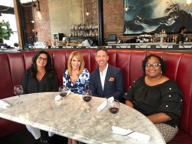 Marci Shienbaum, Kam Carman, Harris Van Cleef and Lutonia Johnson at Wright & Company.
