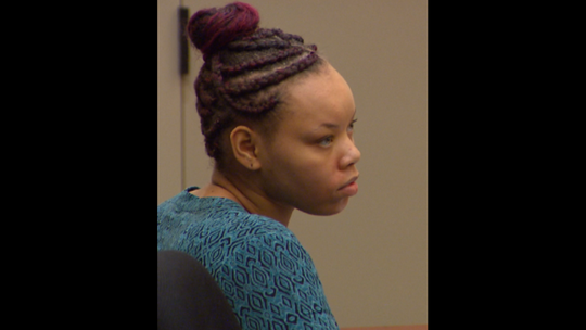 Lovily Johnson appeared in court on Sept. 4, 2018.