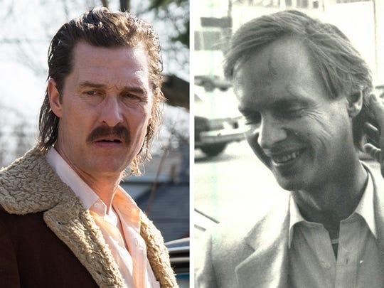 Matthew McConaughey portraying Richard Wershe Sr., left, and Wershe Sr.