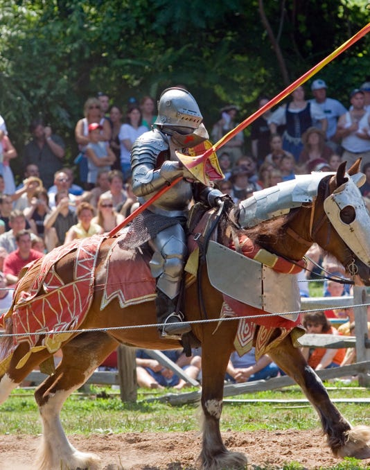 Traveling back to a time gone by is easier at the annual Michigan Renaissance Festival. (Getty)