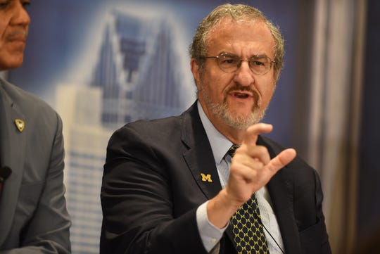 Dr. Mark Schlissel, president of the University of Michigan, said the state appropriation for U-M is about at the same level it was in 1997.