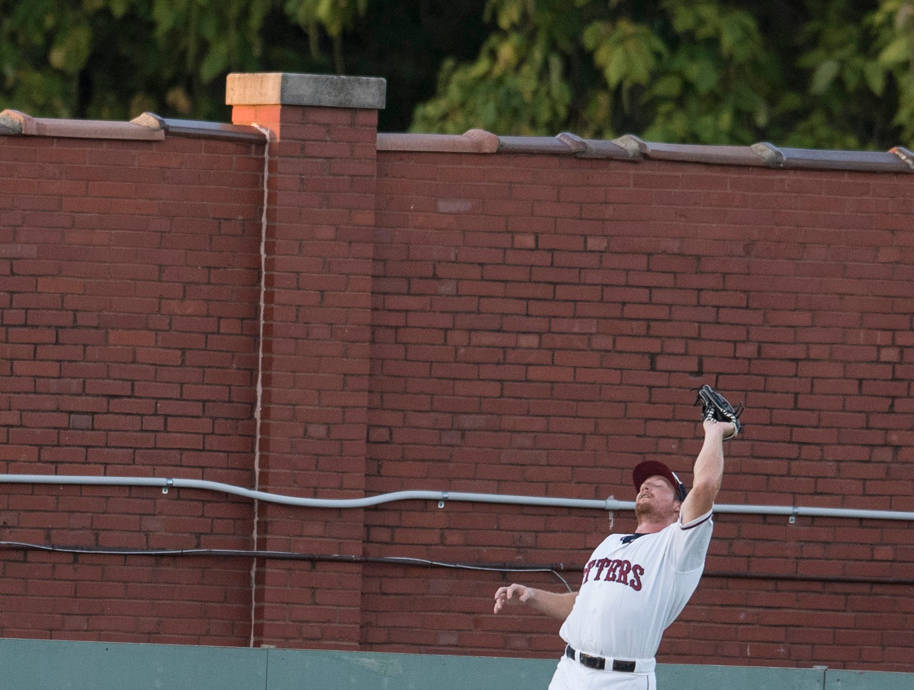 Evansville's Tyler Vail (36) catches a pop fly during game one of the Frontier League Division Series at Bosse Field against the Washington Wild Things Tuesday, September 4, 2018.