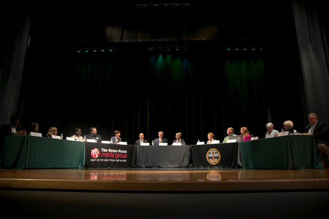 The Lee County School Board and The News-Press Editorial Board hosted a town hall meeting Wednesday about the proposed 1/2 cent sales tax to fund capital projects for the Lee County School District.