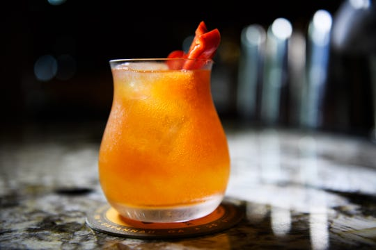 """The """"Melon Dramatic"""" is a nonalcoholic mocktail served at Husk in Greenville, South Carolina."""