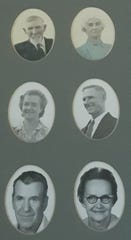 The Bangs' family farm history dates back to 1910. Pictured at top are Warren and Mary Bangs. Middle row, Laura Etta Smalley and William Bangs. Bottom row, Kenneth and Norma Bangs
