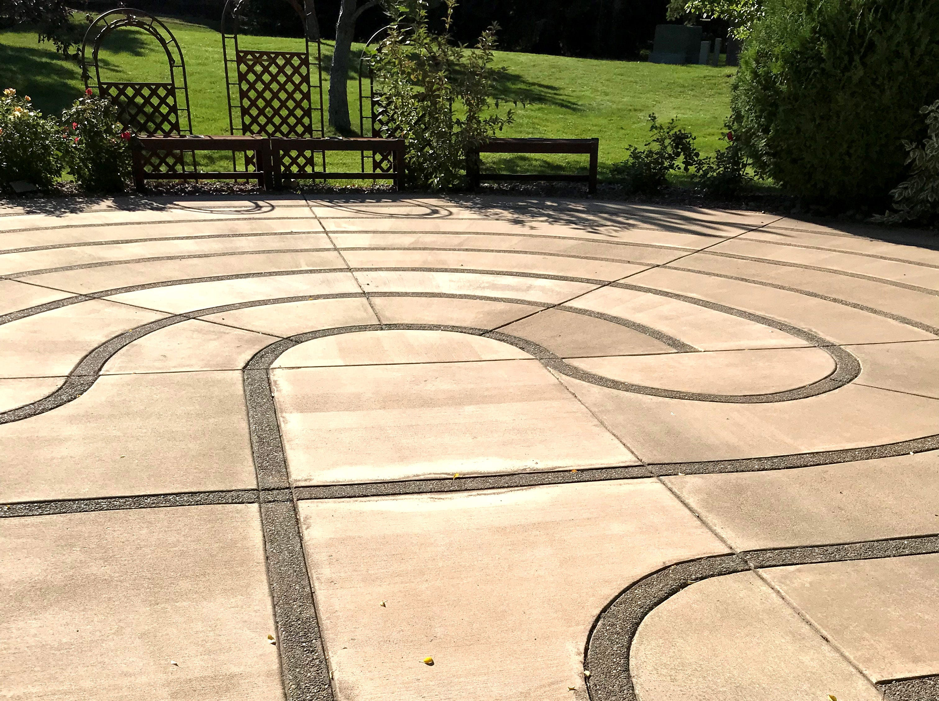 Benefis Peace Hospice has a labyrinth in the courtyard.