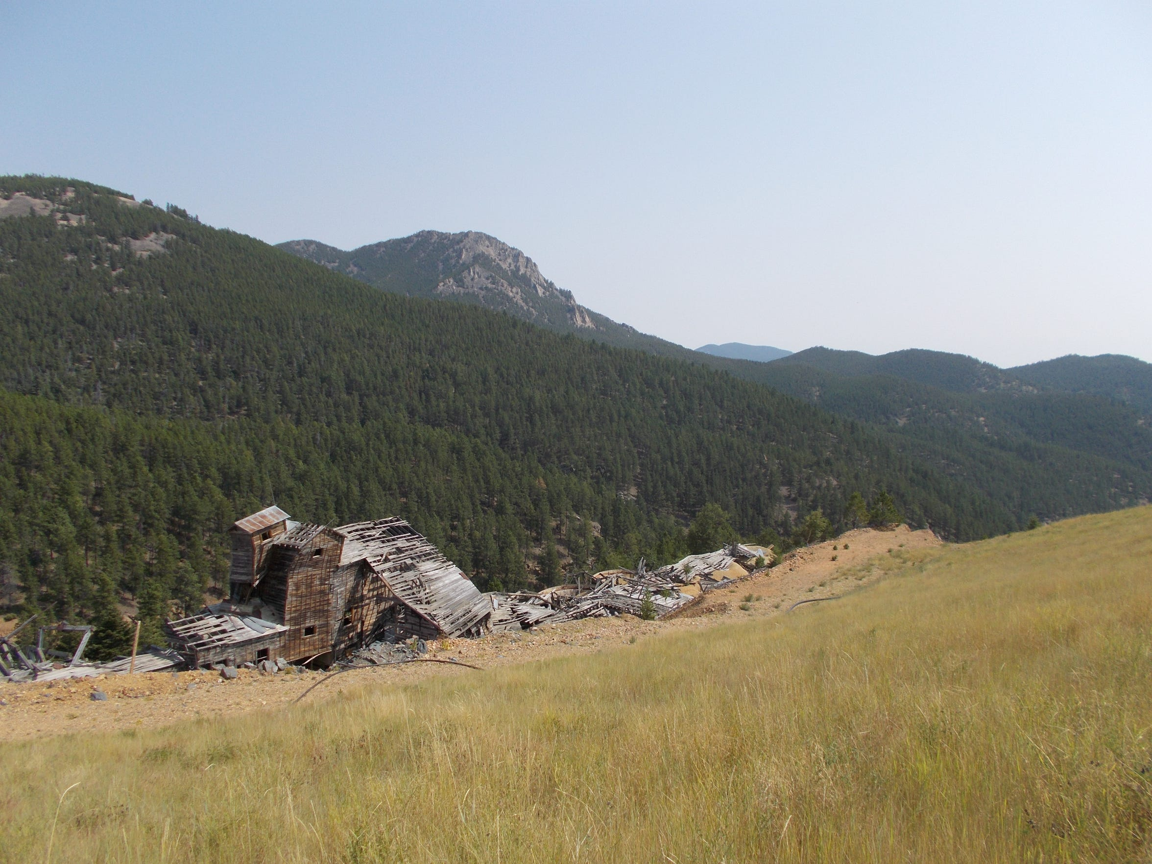 The Ruby Gulch historical mill as it deteriorates over time.