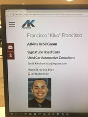 Photo of Francisco Francisco as it appears on the Atkins Kroll website, Sept. 5, 2018. He has been accused of criminal sexual conduct.