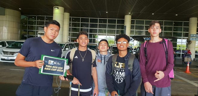 Guam's U18 3X3 basketball team arrives in Kuala Lumpur, Malaysia on Sept. 5. The team is, from left: Jahmar White, Isaiah Pelkey, Tony Quinene and Matt Fegurgur. They are one of 19 teams who hope to take the coveted FIBA 3X3 2018 Asia Cup. Their first games are at 7:50 p.m. CST Sept. 6 against Hong Kong and 8:45 p.m. CST Sept. 6 against Uzbekistan. On Sept. 7 they face Mongolia at 1:20 p.m. and Iran at 2:30 p.m.