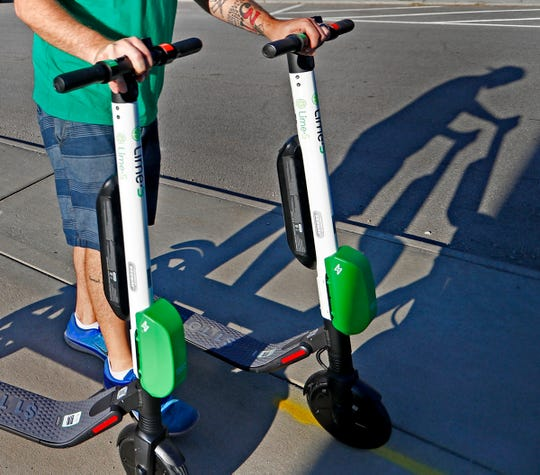 People riding scooters to Indianapolis Motor Speedway should park them at 10th Street and Allison Way.