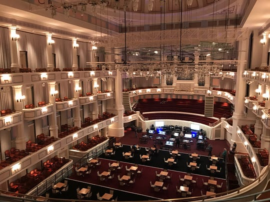 View of the Palladium's Concert Hall from the Gallery Level.
