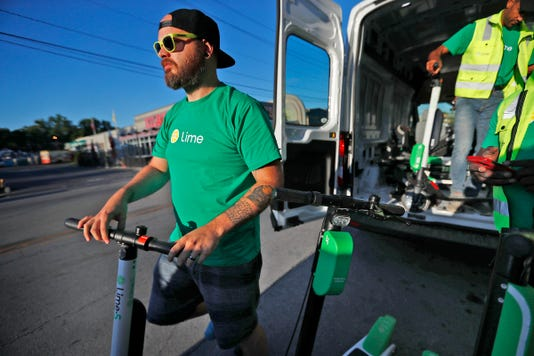Lime Scooters Are Back In Action In Indianapolis