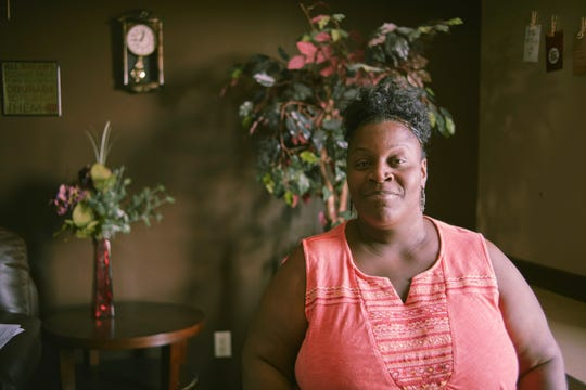 """Moore spent 17 years struggling with alcohol and drug dependency, ultimately losing both her daughter and her home before finding shelter and """"love and compassion"""" at Wheeler Mission."""
