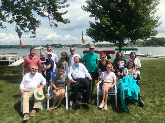 Mack Doyle's bucket list item was one more family cookout at Lake Wawasee. Unfortunately, he passed away four days before, but the rest of the family still  went, and remembered and celebrated his life. Photo courtesy of Doyle family.