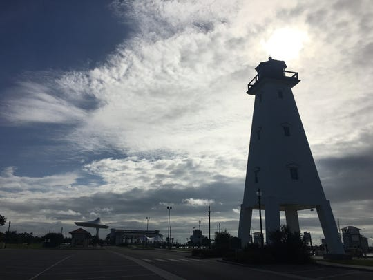 A lighthouse in Jones Park in Gulfport.