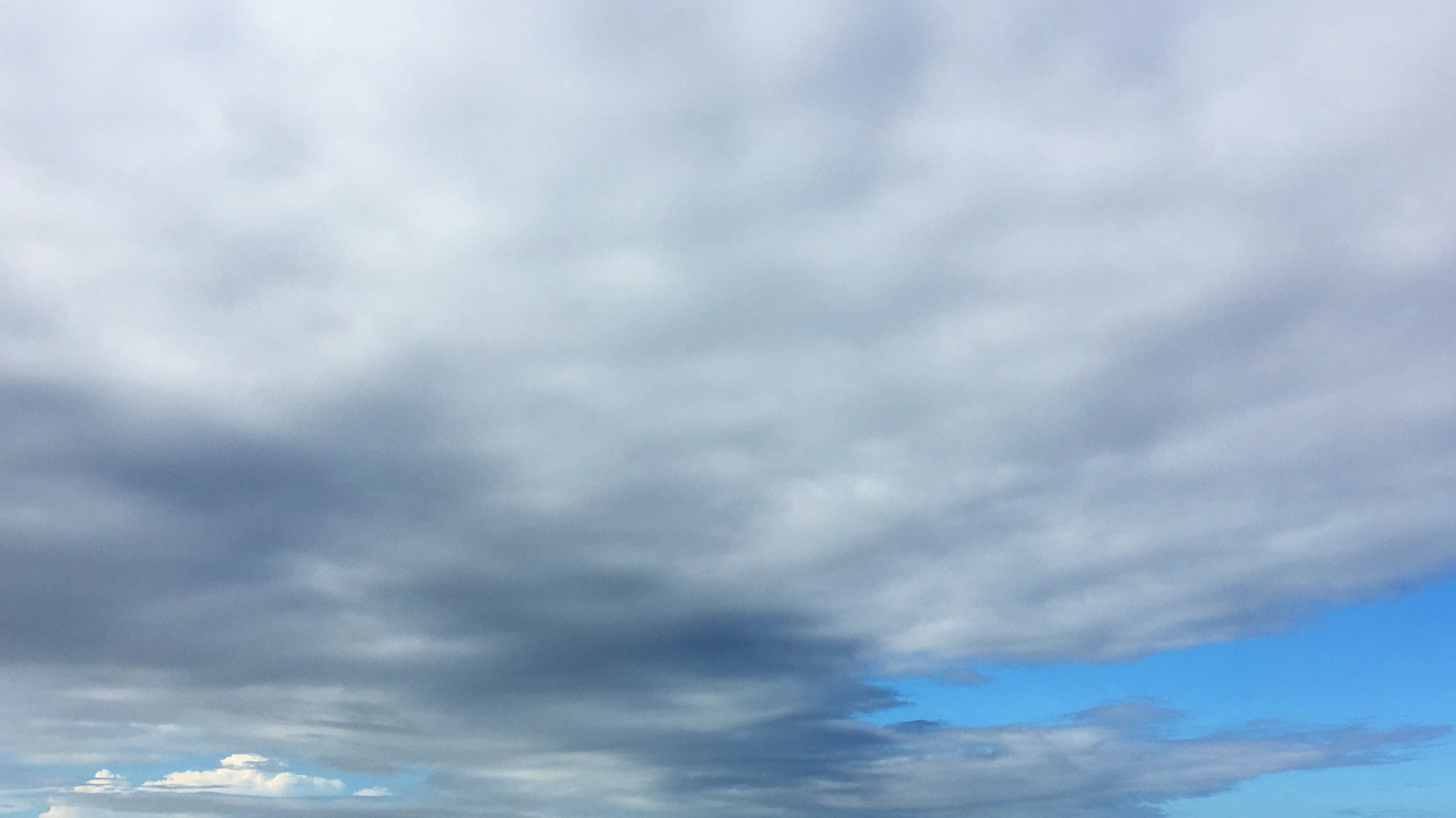 Blue skies were visible above the Mississippi Gulf Coast the day after Gordon came ashore.