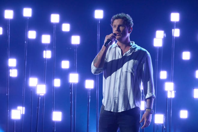 "Michael Ketterer performs in the ""America's Got Talent"" semifinals."