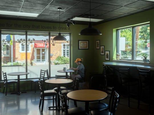 Inside the Golden Roast coffee shop on Saturday, September 1, 2018.