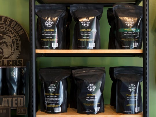 The Gold Roast coffee shop roasts their own coffee beans.