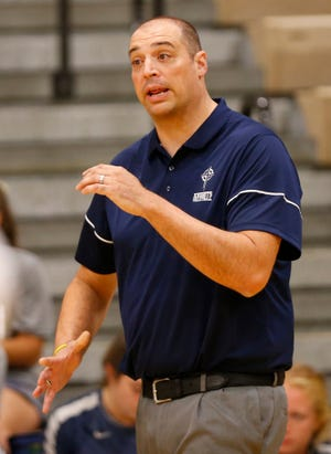Central Catholic head coach Brad McCarter.