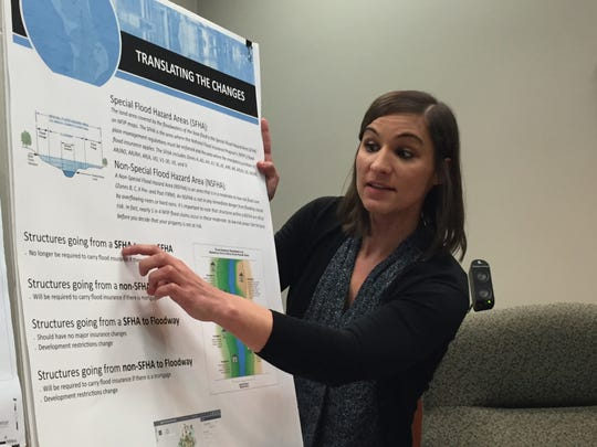 Stephanie Weeks, flood plain administrator for Lafayette Consolidated Government, discusses changes to the FEMA flood map Sept. 5, 2018.