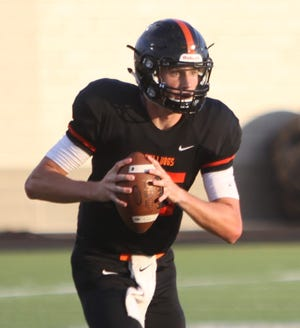 Brighton quarterback Will Jontz visited Michigan State for its opener against Utah State last Friday.