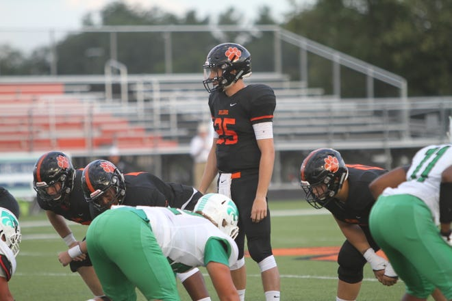 Brighton quarterback Will Jontz (25) is beginning to attract the attention of Big Ten Conference football programs.