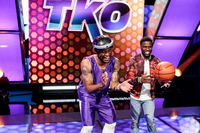 """I Came Out of the Womb a Fighter"" - Pictured: Cory ""Sauce"" Brown and Kevin Hart. A karate sensei, a pro parkour athlete, an obscure sports champion, a pro streetballer and a muay thai boxer take on the obstacle course, on TKO: TOTAL KNOCK OUT, Friday, September 7 (8:00-9:00 PM, ET/PT) on the CBS Television Network. Kevin Hart is the host. Photo: Sonja Flemming/CBS ©2018 CBS Broadcasting, Inc. All Rights Reserved"