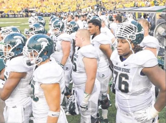 Michigan State's 2014 football team was blown out in Sept. 6 game at Oregon. The score: 46-27. The temperature at kickoff was 91 degrees.