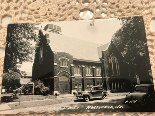 The Wesley United Methodist Church in Marshfield in the 1920s.