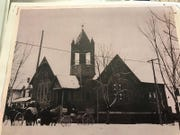 The Wesley United Methodist Church after it was rebuilt in 1902 after remodeling and a minor fire.