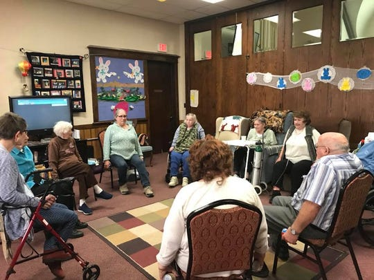A meeting at Marshfield Area Respite Care Center which was located inside of the Wesley United Methodist Church which recently burned down.