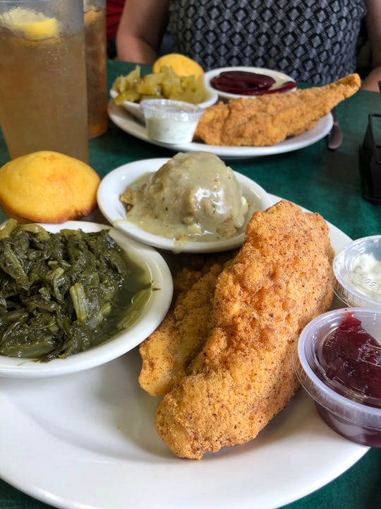 Fried Catfish at The Four Way on Mississippi Blvd.