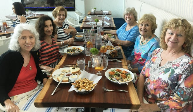 After a trip to the Naples Depot Museum, the ladies enjoyed lunch at Timeless. From left, Carol Rosasco, Jean King, Adele Meilan, Patty Larkin, Mary Ann Cassidy and Cindy Crane.