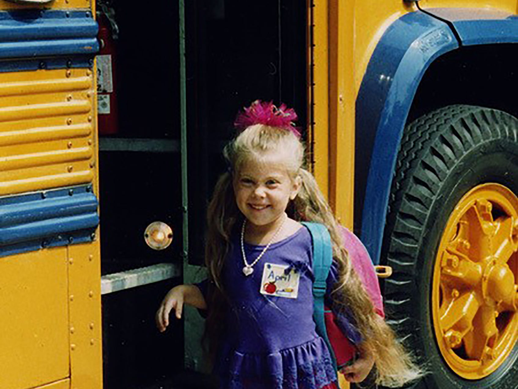 """Laurie Krueger of Esteroy writes: """"My daughter, April, on her first day of kindergarten."""""""