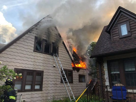 Whitefish Bay house catches fire