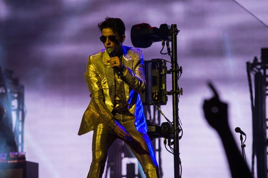 The Killers perform at Fiserv Forum grand opening concert in Milwaukee, Wisconsin, on Tuesday, September 4, 2018.