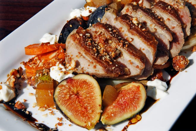 Sarah Edith Obear, chef de cuisine at Le Reve in Wauwatosa,  will prepare a pan- seared smoked duck breast with figs, sweet potatoes, roasted fennel, brandy pear, goat cheese, candied hazel nuts chocolate and porter reduction, for the Journal Sentinel Wine Experience on Sept. 22.