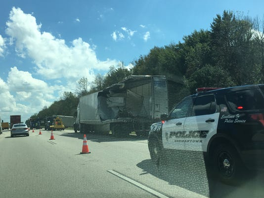 Semi truck accident in germantown