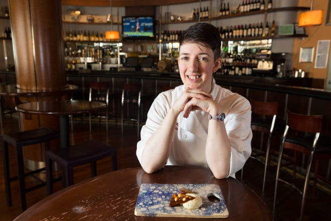 Rachael Karr, chef at Pastiche at the Hotel Metro, is shown Sept. 5, 2018, in Milwaukee.