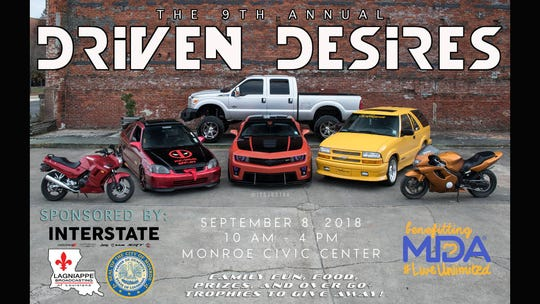 Driven Desires will be at the Monroe Civic Center Saturday.