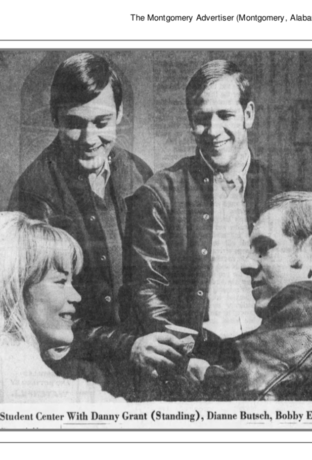 Sim Byrd, Danny Grant, Dianne Butsch and Bobby Enslen in 1968.